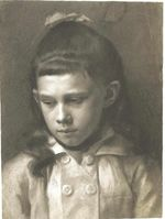 Portrait of a Girl, Head Slightly Turned Left 1879