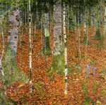 Farmhouse with Birch Trees 1903