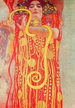 University of Vienna Ceiling Paintings, Medicine, detail showing Hygieia 1907